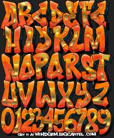 Image of Graffiti Font - Inferno