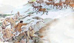 Reindeer Hunting in the Paleolithic by Giovanni Caselli