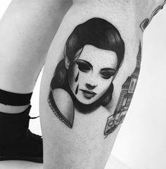 Eerie Tattoos of Women With Soulless Eyes by Slumdog. http://illusion.scene360.com/art/103448/slumdog-tattoo/