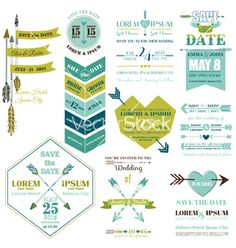 Set of wedding cards vector - by woodhouse84 on VectorStock®