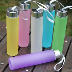 Creative Candy Color Women's Water Cup Cute Mini Soda Bottles Unbreakable Kettle Portable Sports Water Bottle BPA from TroyGift. Drinking Water Bottle, Cute Water Bottles, Bpa Free Water Bottles, Drinking Fountain, Glass Water Bottle, Soda Bottles, Drink Bottles, Copo Starbucks, Food Storage Boxes