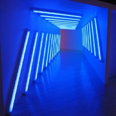 Artist: Dan Flavin | light installation