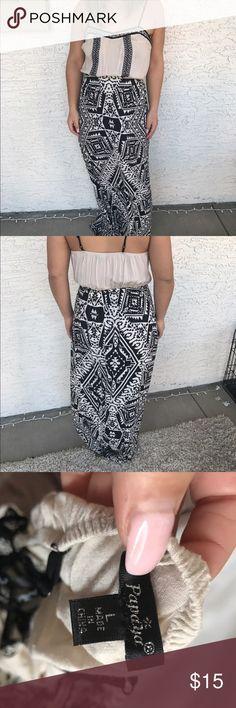 geometric maxi dress Purchased at papaya, worn a few times. Papaya Dresses Maxi