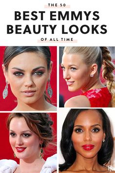 The 50 Best Emmys Beauty Looks of All Time #purewow #emmys #celebrity #new year #hair #beauty #celebrity style #red carpet #makeup