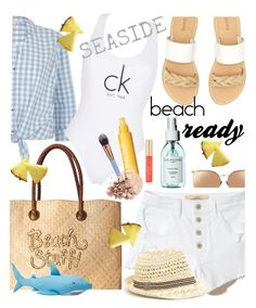 """""""Beach ready"""" by maripir on Polyvore featuring Soludos, White Stuff, Hollister Co., River Island, Calvin Klein, Linda Farrow, Luxie, Clinique and Anastasia Beverly Hills"""