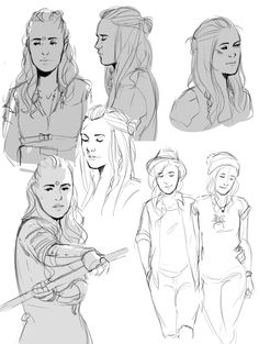 "sango-bluewolf: "" I just realized I've got a bunch of random clexa doodles I never posted """