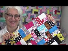 She Makes A Scrappy Quilt, An All Time Favorite, And It's A Great Beginner Project! - DIY Joy