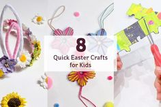 8 quick easter crafts for kids · craft ideas Loom Knitting Projects, Sewing Projects, Craft Projects, Quilting Projects, Sewing Ideas, Craft Ideas, Easter Crafts For Kids, Summer Crafts, Quilt Patterns Free