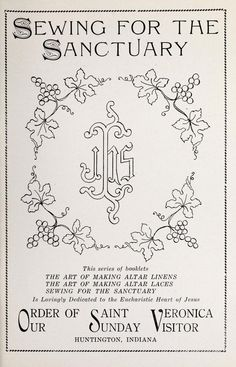 Several liturgical items w embroidery patterns that would interpret into whitework & goldwork Sewing for the sanctuary