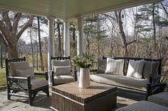 Rustic Porch by Fern Hill Design, Stevenson, MD - Rustic Furniture by La Lune Collection