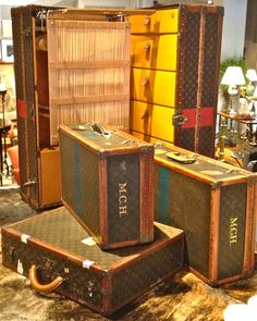 Vintage Louis Vuitton Luggage and Steamer Trunk Collection Lv Luggage c9ce3ab498b9d