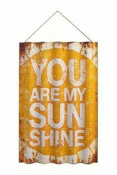 An eye-catching addition to your entryway or living room, this metal wall decor showcases a bold typographic motif in yellow. Product: SignConstruction Material: MetalColor: Yellow Features:Text motif Dimensions: H x W x D Corigated Metal, Metal Walls, Rusted Metal, Painted Metal, Metal Projects, Metal Crafts, Tile Crafts, Diy Projects, Wood Crafts