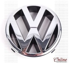 VW Polo I Front Emblem Chrome Badge OE 3A0853601