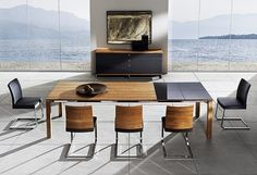 Modern Dining Room Chairs in Our Home Contemporary Dining Table, Modern Dining Room Tables, Dining Room Sets, Dining Room Chairs, Modern Table, Arm Chairs, Modern Contemporary, Dining Room Furniture Design, Outdoor Dining Furniture