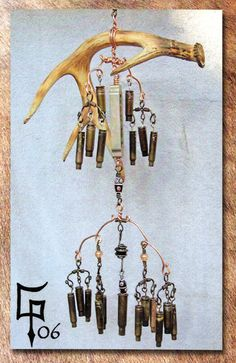 Shed Antler and Bullet Casing Wind Chime