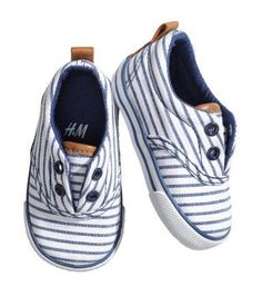 Striped toddler boy shoes