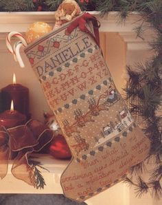 Sampler Stocking Four Kit  for Counted Cross Stitch- #30K