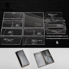 длинный бумажник шаблон акрил кожа комплект Clear оргстекла кожа ремесло шаблон | eBay