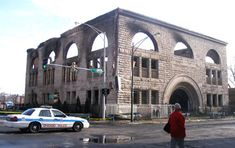 Another Adler & Sullivan destroyed. This time fire takes the KAM Temple/Pilgrim Baptist Church in 2002.