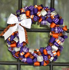 Clemson Tigers Wreath love