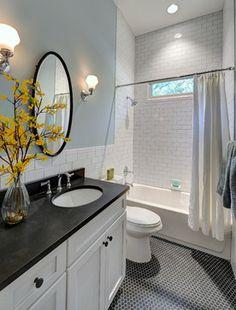 Hill Street Hacienda - traditional - Bathroom - Atlanta - Carl Mattison Design Wall Color  Anonymous by Behr