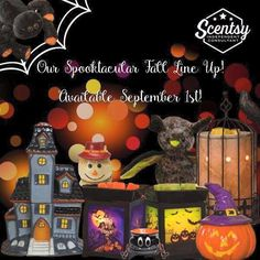 Fall Harvest Sale starts September 1st while supplies last. Everything from cute warmers, Buddies, fall scents, and scary warmers we have it all to bring Halloween and the harvest season into your home! Go to https://kaylahively.scentsy.us to order on September 1st!