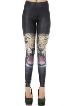 Leopard Print Skinny Leggings OASAP.com