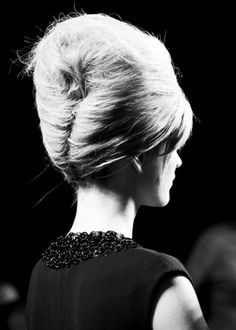 Bridesmaids hair . The beehive hairstyle was a popular symbol of the 1960s.