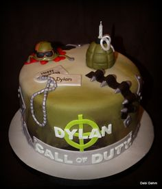 call of duty cake | Cake I did for my cousin