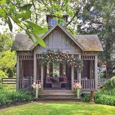 She Needs a She Shed with Fixer Upper Farmhouse Flair! - The Cottage Market - She Needs a She Shed with Fixer Upper Farmhouse Flair! She Needs a She Shed with Fixer Upper Farmhouse Flair! – The Cottage Market Diy Shed Plans, Storage Shed Plans, Diy Storage, Outdoor Storage, Barn Plans, Garage Plans, Wood Plans, Shed Ideas, Small Shed Plans