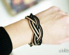 DIY   Braided Suede Bracelet