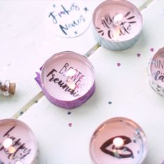 DIY Gift: Tealight messages for birthdays, New Year's Eve or just for fun … - Diy Geschenke Ideen Boyfriend Gift Diy, Diy Birthday, Birthday Gifts, Happy Birthday, Diy Gifts Videos, Diy Videos, Diy Gifts For Friends, Diy Gifts For Him, Sweet Messages