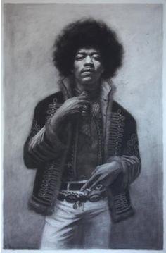 Jimi Hendrix by Leonard