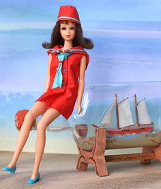 "Francie in #1220 ""Land Ho!"" 1969-1970...I didn't have this outfit but I remember seeing it in the little catologues....."