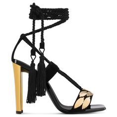 a4278c8bb8 Gluseppe Zanotti Gold High Heel Sandals, Ankle Strap Sandals, Chunky Heel  Platform Sandals,