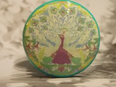 1-1/2 Peacock Dresser Knobs  Flirting Peacock by dynastyprints
