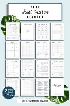 Your Best Season Planner Printable Planner Quarterly image 1 Routine Planner, Goals Planner, Free Planner, Blog Planner, Budget Planner, Weekly Planner, Happy Planner, Monthly Planner Printable, Exam Planner