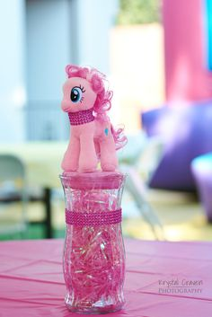 My Little Pony table centerpiece idea! So cute and easy!