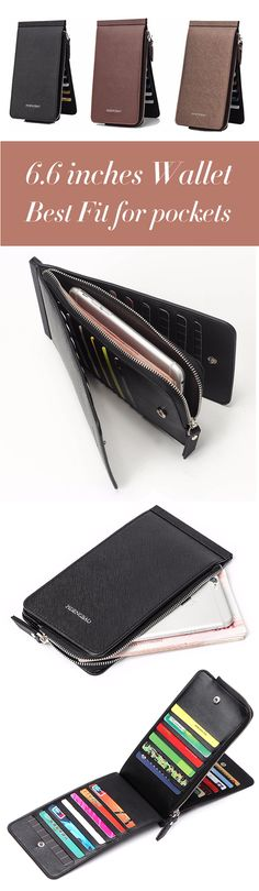 US$11.99 + Free shipping. Men Wallet, Business Wallet, Long Wallet, PU Wallet, Card Holder, Coins Bag. Material: PU. Color: Black,Coffee, Brown.26 Card Holders and 1 Zipper Pocket, Suitable for most kinds of phone.