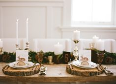 Rustic Wedding Table   photography by http://jacquelynnphoto.com/