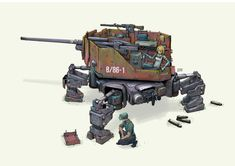 """""""It fell again didn't it? That's the third time today. Robot Concept Art, Creature Concept Art, Weapon Concept Art, Arte Cyberpunk, Concept Ships, Art Et Illustration, Ex Machina, Military Weapons, Panzer"""