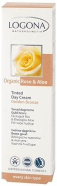 #Tinted #Day #Cream Bio Rose & Aloe, golden bronze #LogonaUSA