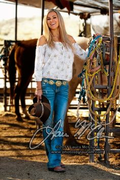 Love the concho belt .....