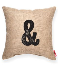 & Burlap Decorative Pillow