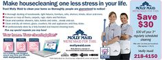 Molly Maid housekeeping! Save on your home cleaning service with these discounts for maid service. Rochester, NY www.mollymaid.com/local-house-cleaning/ny/eastern-monroe-county/maid-team.aspx