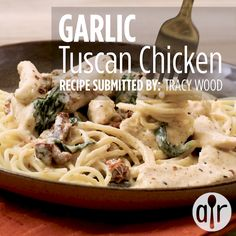 Garlic Tuscan Chicken – Famous Last Words Meat Recipes, Pasta Recipes, Chicken Recipes, Dinner Recipes, Cooking Recipes, Healthy Recipes, Cooking Gadgets, Burger Recipes, Fall Recipes