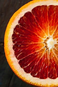 Blood orange, also called red orange, is a citrus fruit, owned by oranges family, but it is red in color. Health benefits of blood oranges may include L'art Du Fruit, Fruit Art, Fruit And Veg, Fruits And Veggies, Fruits Basket, Fruit Salad, Fruit Photography, Macro Photography, Close Up Photography
