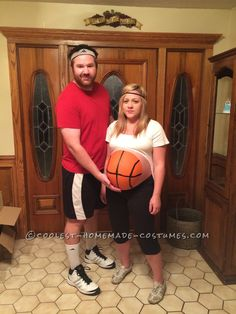 Pregnant Couple Costume: Basketball Player and Ball... Coolest Halloween Costume Contest