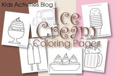 Ice Cream Coloring Pages {Free Printable!} - Kids Activities Blog