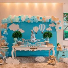 Fiesta Baby Shower, Baby Shower Cakes, Baby Shower Themes, Baby Boy Shower, Baby First Birthday, Birthday Photos, Baby Decor, Birthday Decorations, First Birthdays